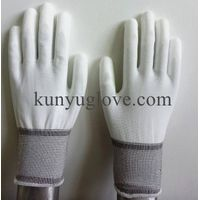 SAFETY 13ga nylon liner pu coated gloves en388/ESD glove/esd top fit glove thumbnail image
