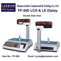 Digital Cash Register Retail Scale, Supermarket Pricing Multi-language LCD Display Weighing System thumbnail image