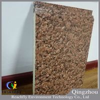 Metal emboseed pu foam insulated decoration facade wall panel