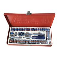 40PCS SOCKET SET SOCKET WRENCHES TOOL BOX BITS BOX