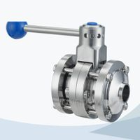Stainless steel flange end hygienic butterfly valve thumbnail image