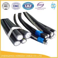 0.6/1kv low voltage ABC /XLPE Aerial Bundle Cable Overhead cable