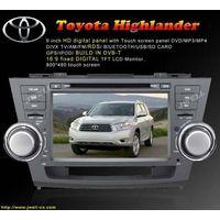 2 Din Car DVD special for Toyota-Highlander ( 8 inch )