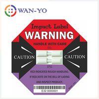 Dual Impact Label E32 : 37G + 50G Double Impact Detection Sensor Labels for Shipment
