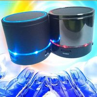 Portable S08 Bluetooth Speaker Mini Wireless Speaker with FM Radio LED