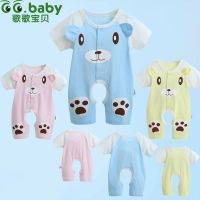 Summer Short Sleeve 100% Cotton Baby Body Suit & Animal Baby One-Pieces Romper