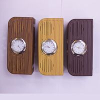 2017 newest high quality Hotel alarm clock wireless wooden bluetooth speaker with FM radio USB thumbnail image