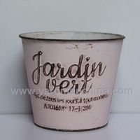europe style metal flower plainter pot bucket thumbnail image