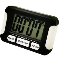 LCD Digital Kitchen Timer Cooking Tools Countdown Holder Back Magnet Hanging Hole thumbnail image