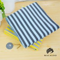 Custom color knitting cotton yarn dyed striped fabric