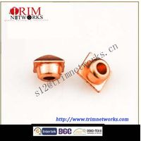Alloy rivet 6MM HVB Imi gold/HVB rose gold square tower shaped fashion metal button