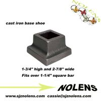 "Cast Iron Base Shoe for 1-1/4"" Square Bar"