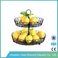 Two layer household daily use iron fruit stand fruit holder&racks