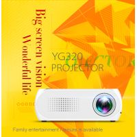 YG320 1080P Mini Portable LED Projector 4000 Lumens 23 Languages Home Theater Can Read U Disk TF Car