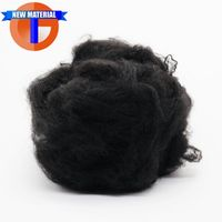 6Dx64mm Recycled Polyester Fiber Black Color for Needle Punched Nonwoven