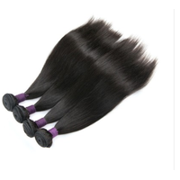 [9A]4 Bundles Malaysian Hair Weave Straight with 360 Lace frontal
