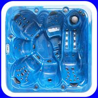 2017 Hot Sale USA Balboa Control 6-8 persons Whirlpool Spa Pool
