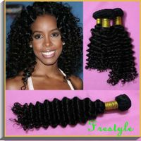 Top quality Malaysian virgin remy human deep wave jerry curly hair weaves