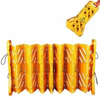 Wheeled folding plastic fence,