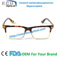 High Fashion Chic Prescription Eyewear in Tortoise Rectangular Spectacle Optical Frame
