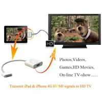 Cheaper Price Dock 30 Pin Male to HDMI Female Adapter Cable for iPad Convertor thumbnail image