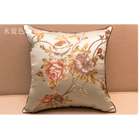 Chinese embroidery silk cushion cover 4545 cm pillowcase throw pillow slip