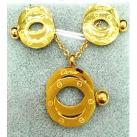 Gold-Color Pendant Necklaces Earrings Fashion Jewelry