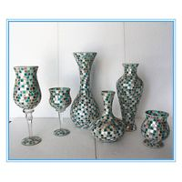 Wholesale antique style glass mosaic floor vase