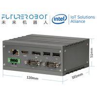 Future Robot F2 x86 N3350/N4200/J4205 HDMI+DP 3LAN 1SD 4COM 4USB Modular Fanless MiniPC WideTemp IPC thumbnail image