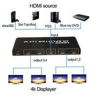 HDMI splitter 1x4 support 4kx2k@60Hz splitter hdmi 2.0