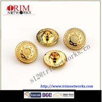 Alloy rivet 12MM HVS Imi gold grid pattern fashion metal button