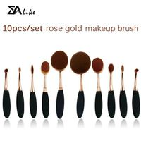 High reliable hot selling foundation brush 10pcs tooth brush oval makeup brush thumbnail image