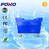 Pono-9006 Certificated durable and portable plastic garment delivery truck with stainless steel whee