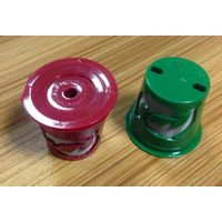 Plastic refillable k cup for keuring brewers