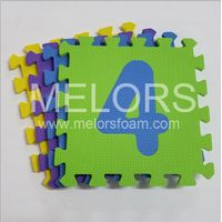 Melors EVA Colorful Waterproof Baby Toy Number Jigsaw Mat