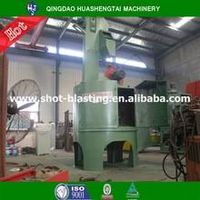 Turntable shot blasting abrasive machine with automatic control