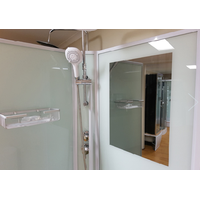 CE certification white printed shower glass screen