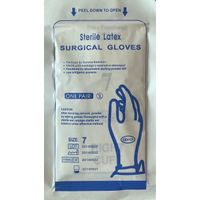 sterile surgical latex gloves medical rubber latex gloves