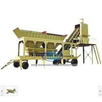 good quality mobile concrete batching plant machine