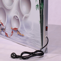 far-infrared carbon-fiber wall heating system