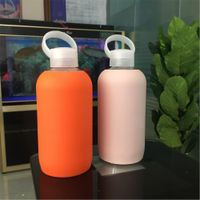 kids 18oz pyrex glass water bottle with insulate cover thumbnail image