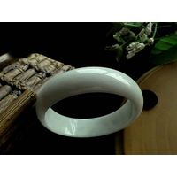 100% Natural white Jadeite Jade Bangle Bracelet 56mm C398 thumbnail image