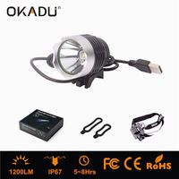 OKADU HT01A 1200Lm Waterproof Bike Front Light USB Rechargealbe Bike Light for Safe Cycling