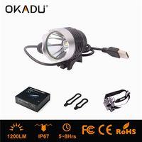 OKADU HT01A 1200Lm Waterproof Bike Front Light USB Rechargealbe Bike Light for Safe Cycling