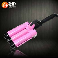 LCD three barrel magic styler hair curler with hair curling irons waver styler thumbnail image