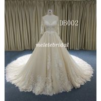 2019 Nice Lace Ball Gown V Neckline Backless Wedding Gown