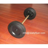 Wheels for 2-wheeled containers