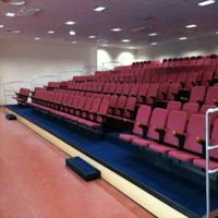 2015 good quality auditorium telescopic grandstand seating system