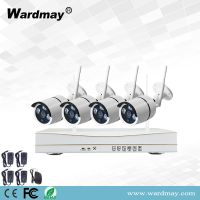 CCTV 4chs 1.0MP/2.0MP Home Wireless Security Surveillance Camera Alarm System WiFi NVR Kits thumbnail image