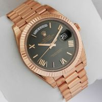 Brand New Rolex Day-Date President Rose Gold 40mm 228235 Green Roman Dial